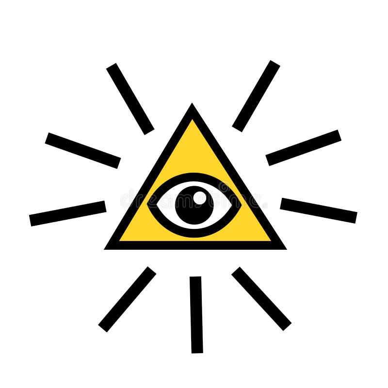 Occhio di Providence illustrazione vettoriale