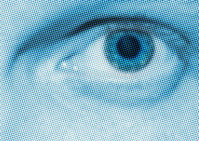 Occhio di semitono blu immagine stock