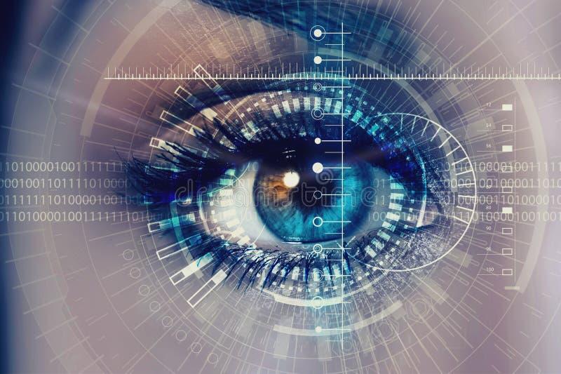 Occhio digitale femminile fotografia stock libera da diritti