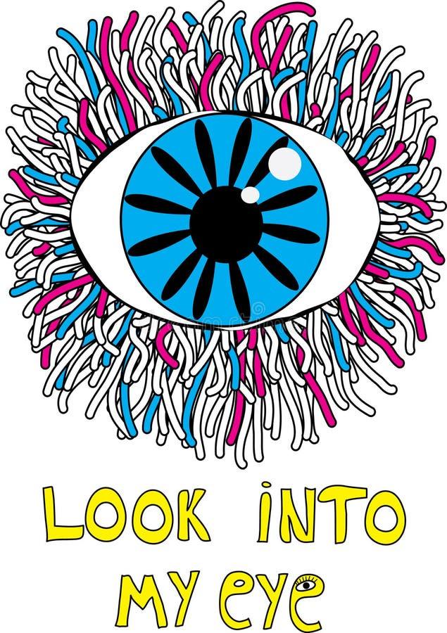 Occhio disegnato a mano illustrazione di stock