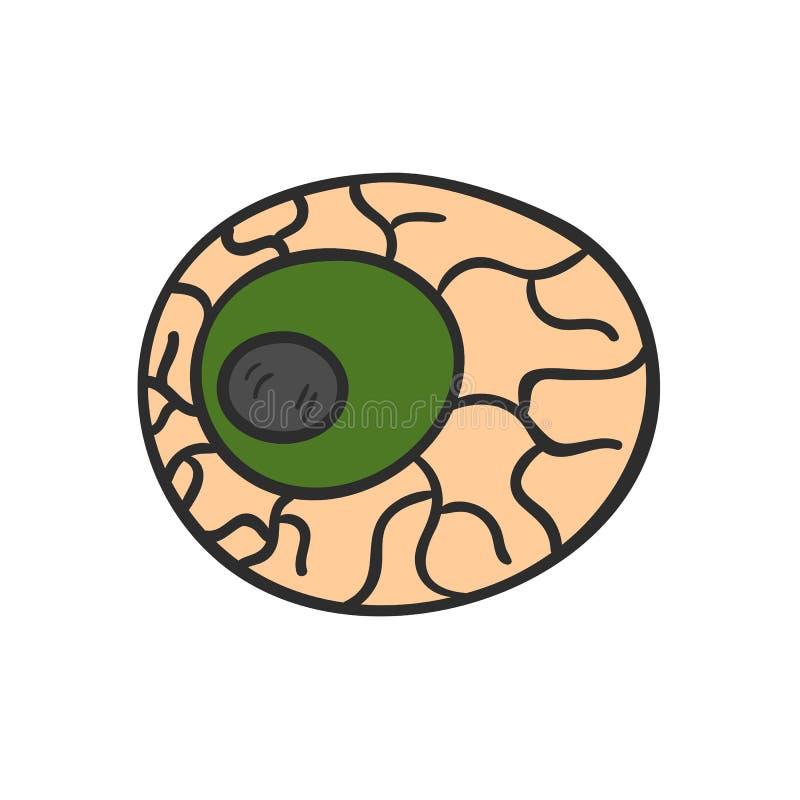 Occhio disegnato a mano del fumetto di vettore con le vene royalty illustrazione gratis