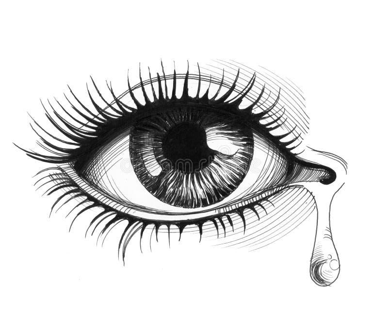 Occhio e strappo illustrazione vettoriale