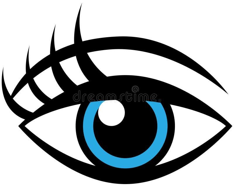 Occhio femminile umano illustrazione vettoriale