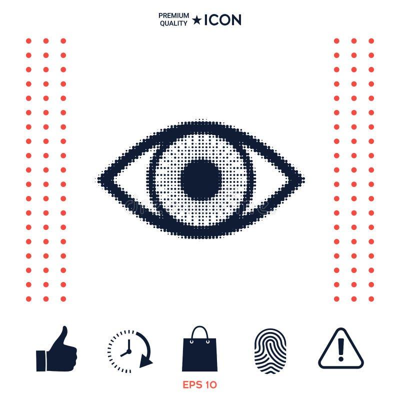 Download Occhio - logo di semitono illustrazione vettoriale. Illustrazione di emblema - 117975028
