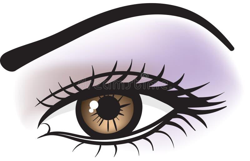 Occhio marrone femminile illustrazione vettoriale