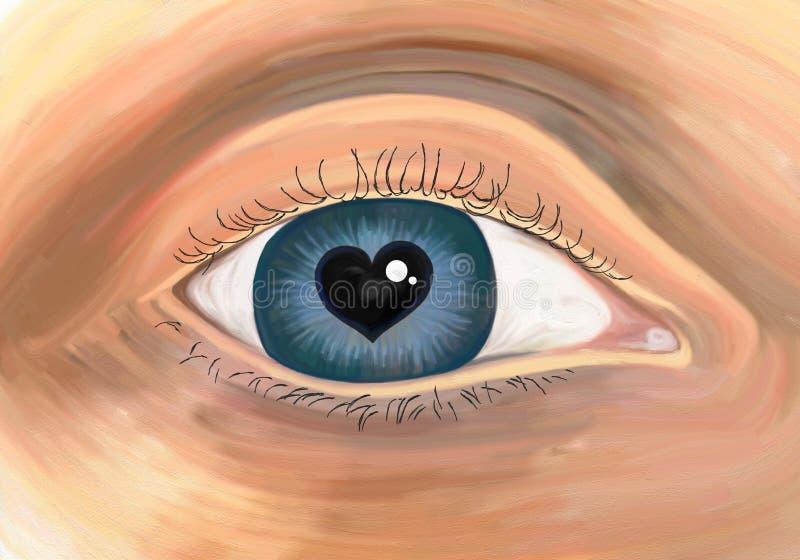 Occhio ricco illustrazione di stock