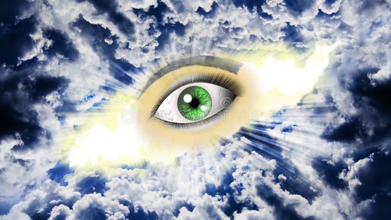 Occhio sul cielo fotografia stock