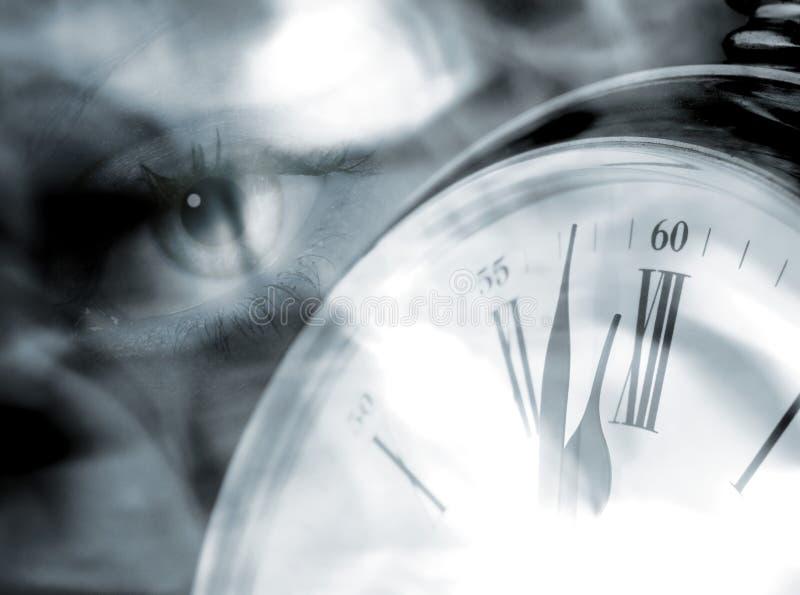 Occhio in tempo fotografie stock libere da diritti