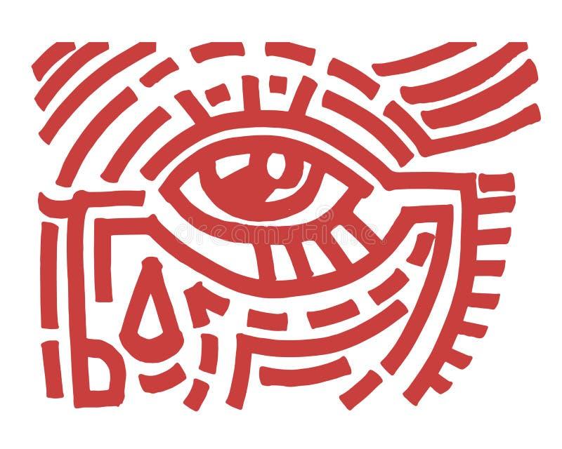 Occhio tribale illustrazione di stock