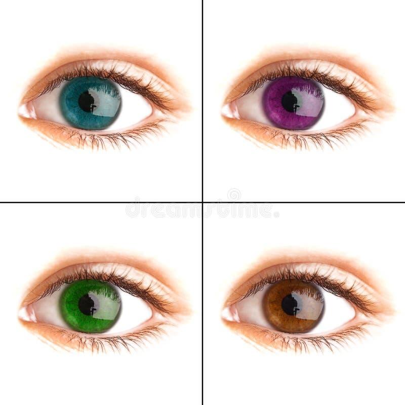 Occhio umano. fucilazione a macroistruzione immagini stock libere da diritti