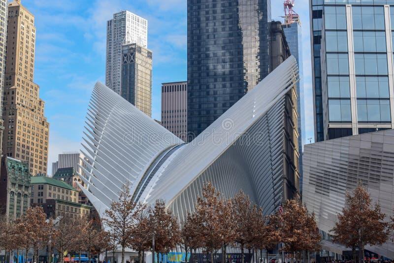 Occhio in World Trade Center, Lower Manhattan, NYC fotografie stock libere da diritti