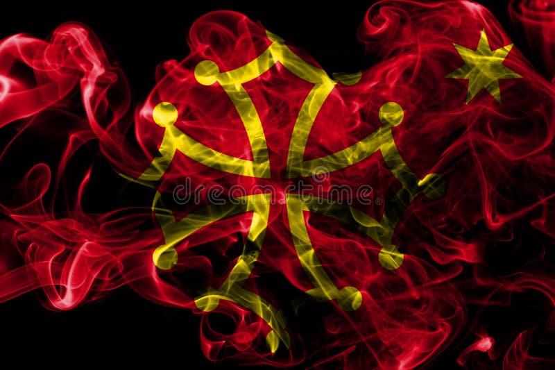 Occitania rökflagga, beroende territoriumflagga royaltyfria foton