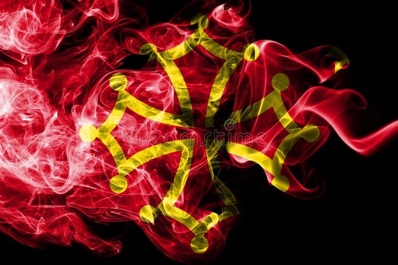 Occitania rökflagga, beroende territoriumflagga royaltyfri illustrationer