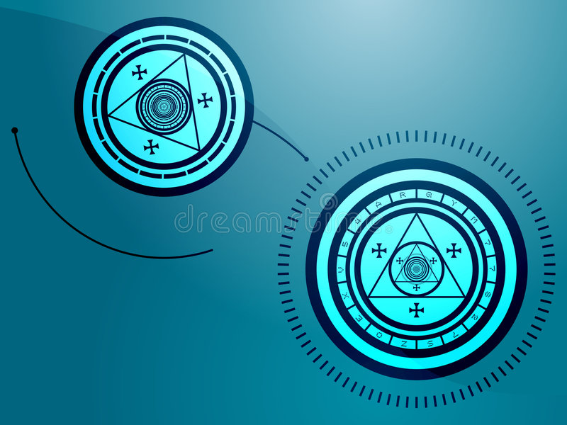 Download Occult symbols stock illustration. Image of triangles - 5866723