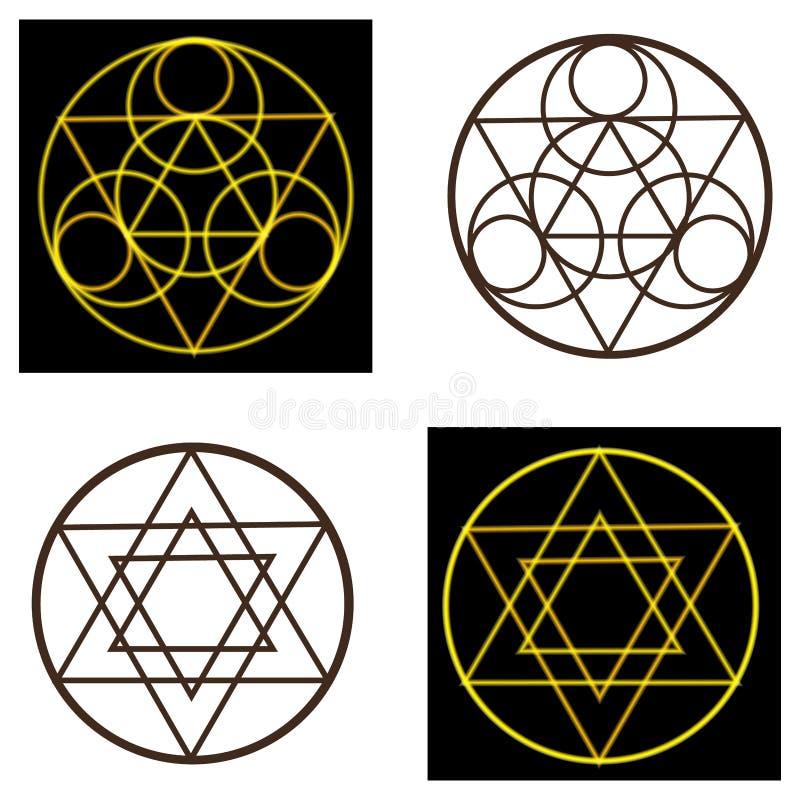 Occult wektorowi symbole ilustracja wektor
