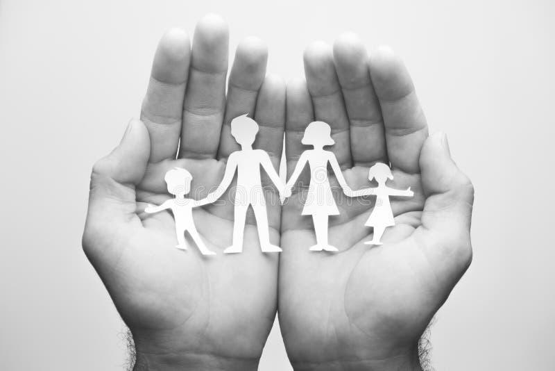 Occupandosi della vostra famiglia immagine stock