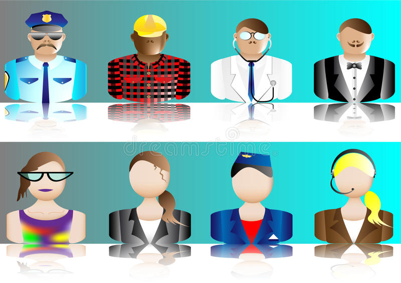 Occupation Avatars Royalty Free Stock Images