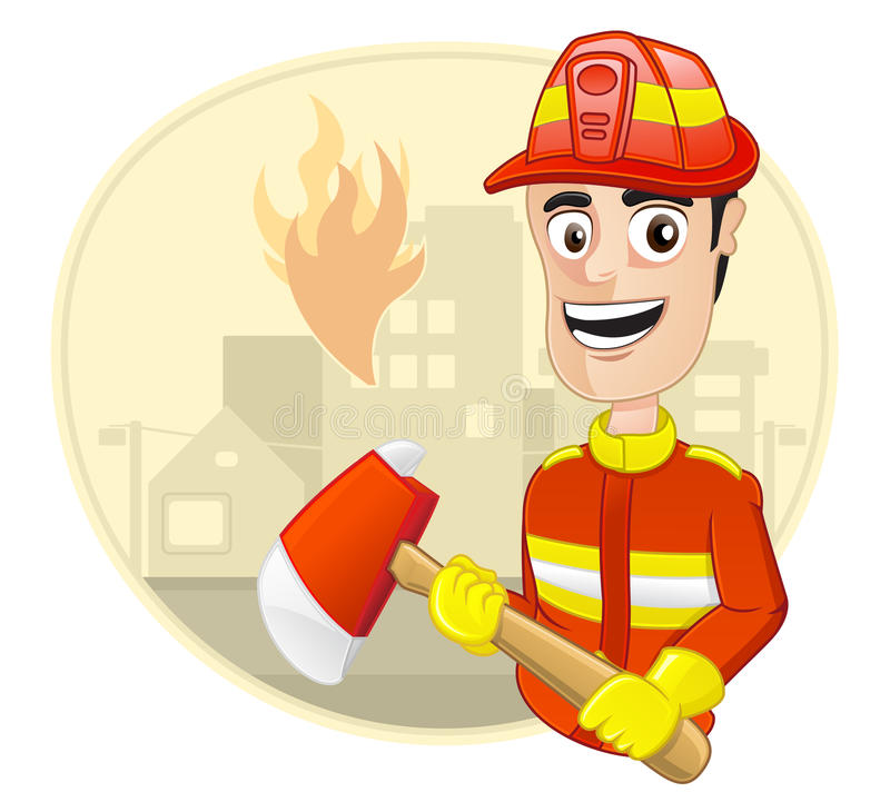 Download Occupation : Fire Fighter stock vector. Image of character - 24797090
