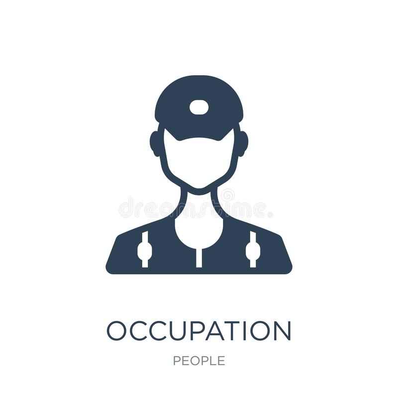 occupation icon in trendy design style. occupation icon isolated on white background. occupation vector icon simple and modern royalty free illustration