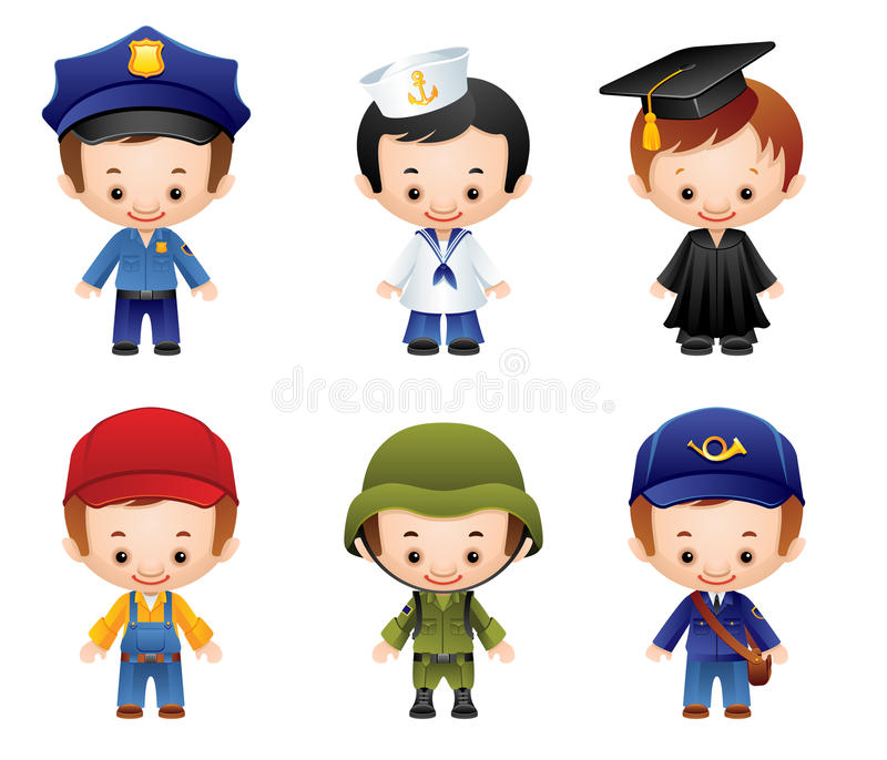 Download Occupation Icons stock vector. Image of child, characters - 13966819