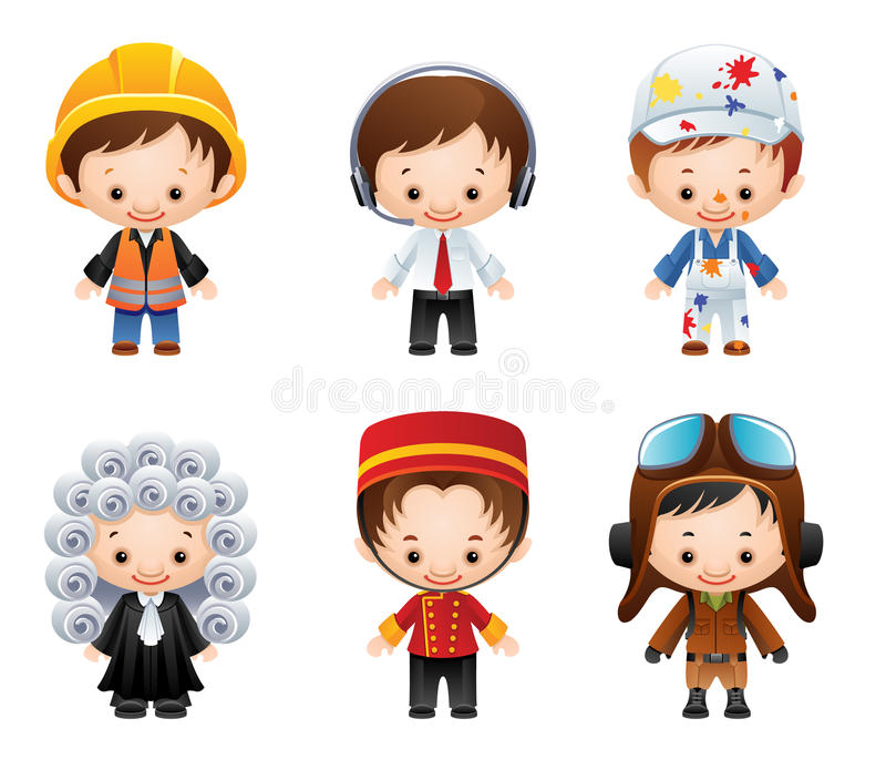 Download Occupation Icons stock vector. Illustration of house - 13966822