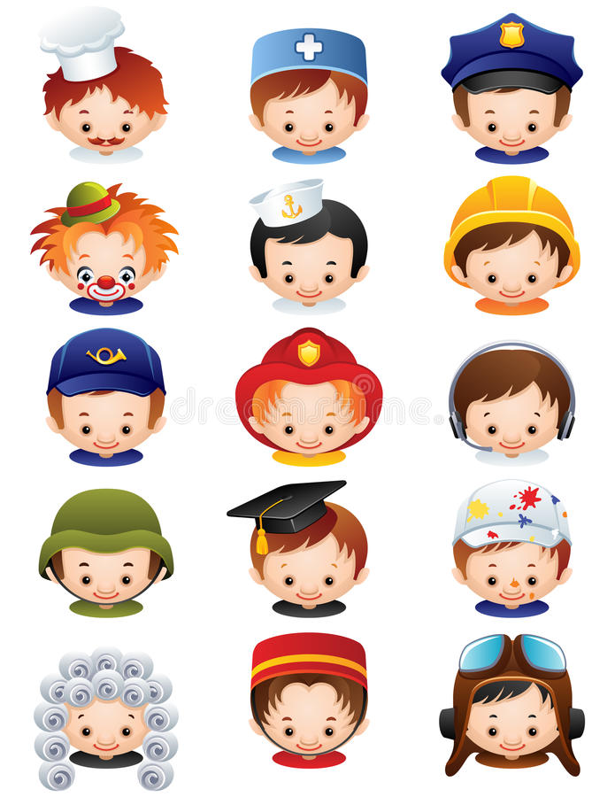Free Occupation Icons Royalty Free Stock Images - 14393389