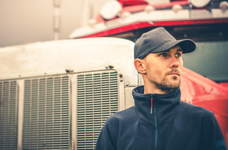 Occupation Semi Truck Driver royalty free stock image