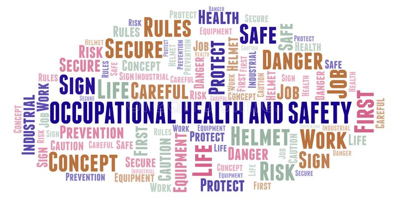 Occupational Health And Safety word cloud. vector illustration
