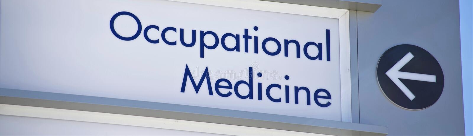 Occupational and Industrial Medicine royalty free stock photography