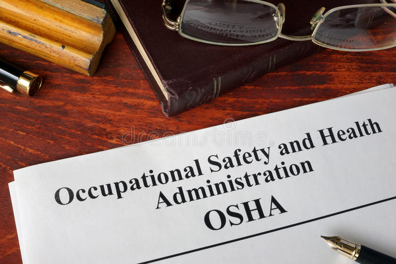 Occupational Safety and Health Administration OSHA royalty free stock photos
