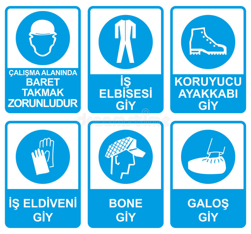 Occupational Safety and Health Signs. Illustration stock illustration