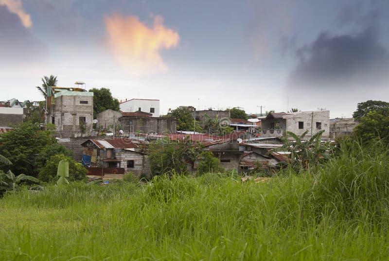 Occupatore abusivo a Manila fotografie stock libere da diritti