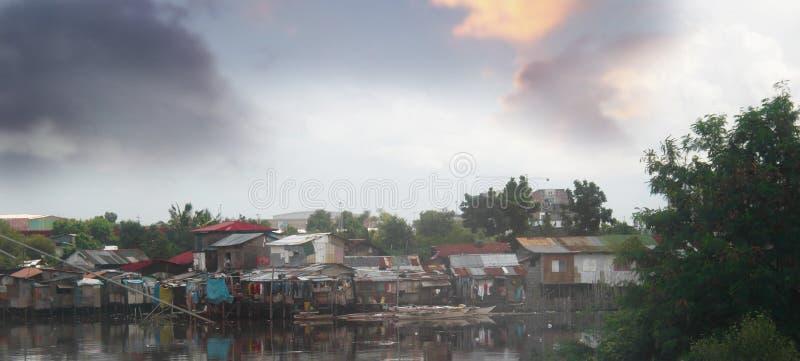 Occupatore abusivo a Manila fotografia stock