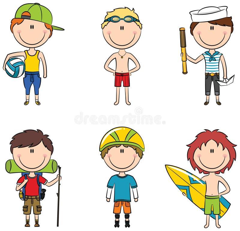 Occupazione dei ragazzi di estate royalty illustrazione gratis