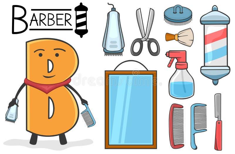Occupazione di Alphabeth - lettera B - barbiere royalty illustrazione gratis