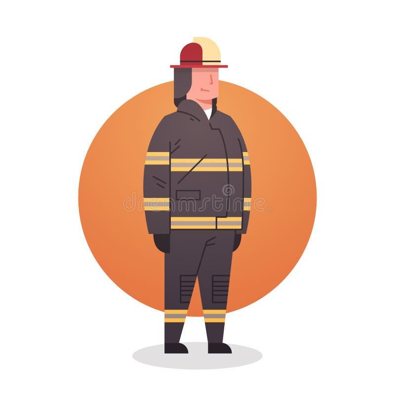 Occupazione professionale del lavoratore del combattente di fuoco dell'icona del vigile del fuoco illustrazione di stock