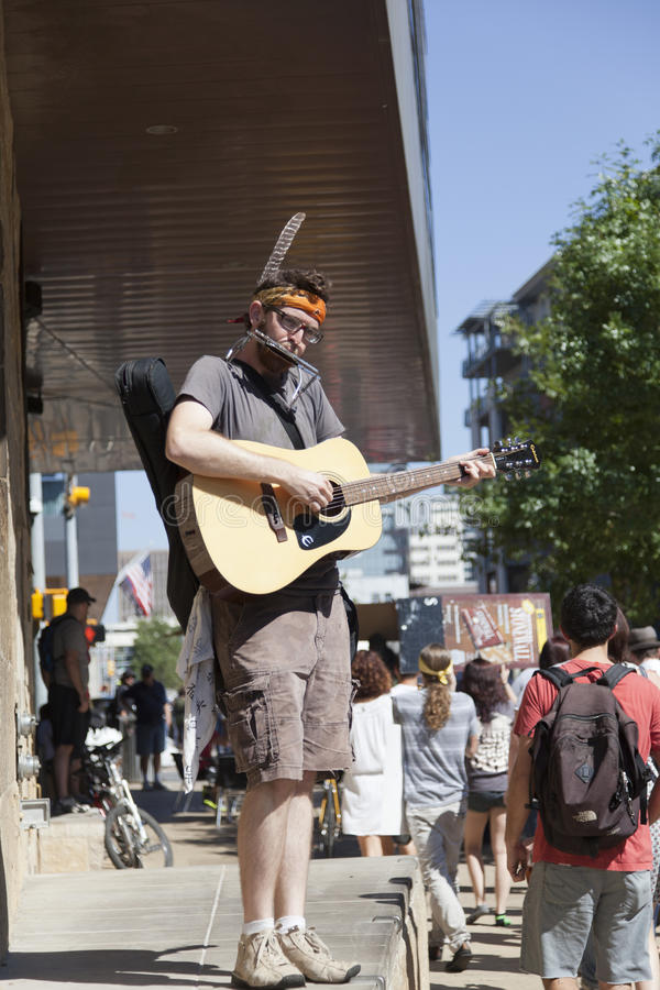 Occupez Austin - protestation march du 15 octobre photo stock