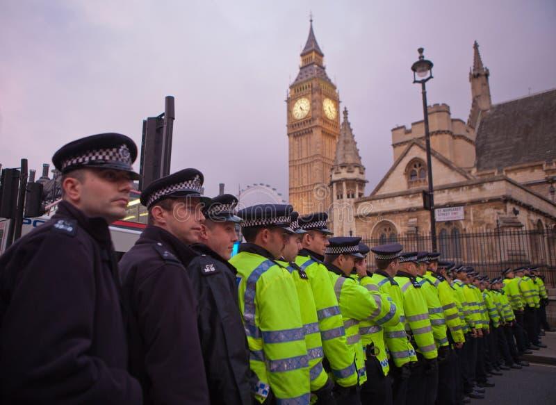 Occupez l'échange courant mars de Londres photos stock