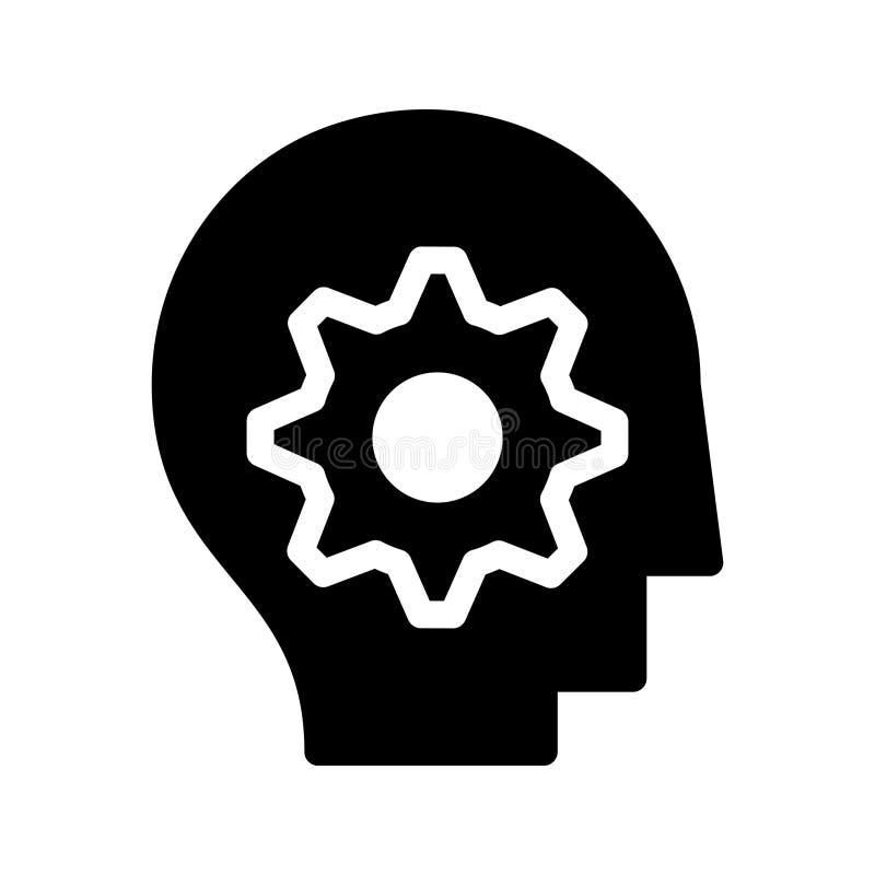 Occupez-vous de l'icône de vecteur de glyph d'arrangement illustration de vecteur