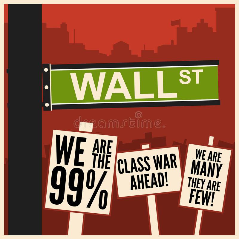 Occupez Wall Street illustration stock