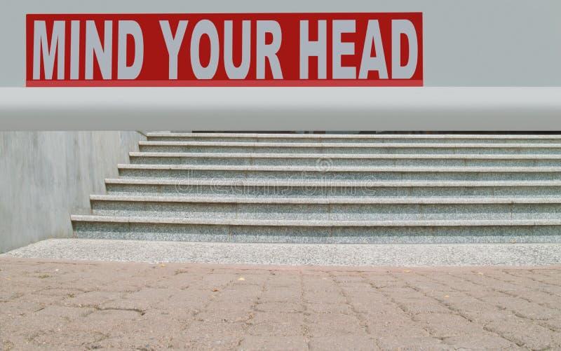 Occupi della vostra testa fotografia stock