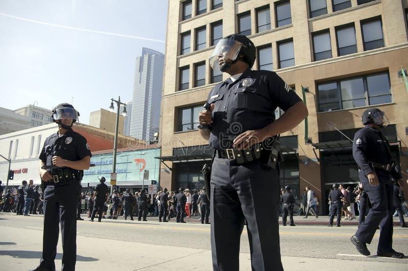 Occupi il procedere dei protestatori della LA fotografia stock libera da diritti