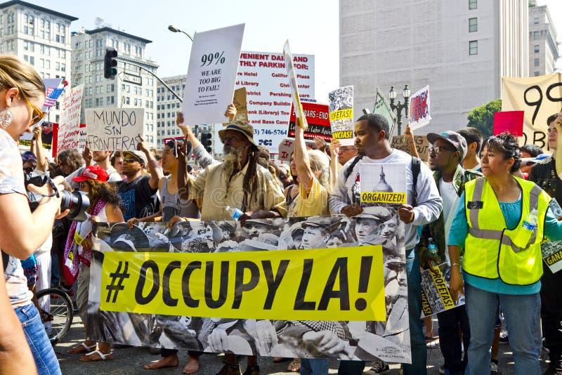 Occupi la dimostrazione ed il raduno della LA fotografia stock libera da diritti