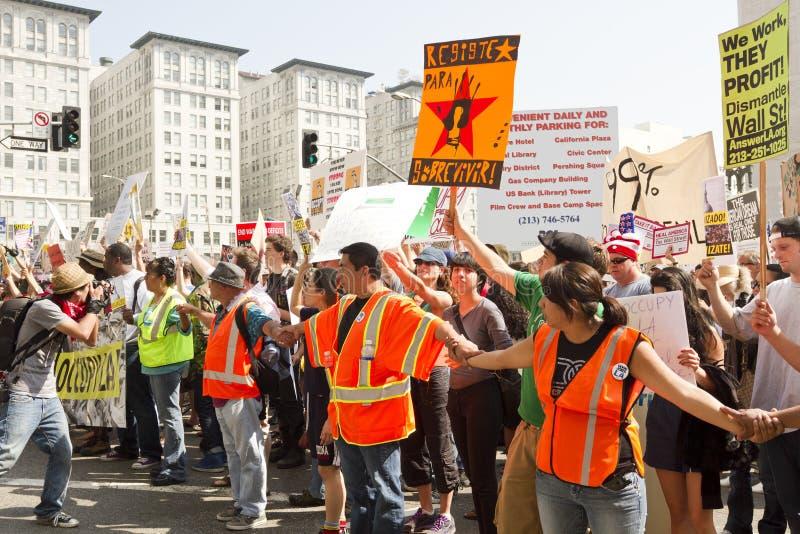 Occupi la dimostrazione ed il raduno della LA fotografie stock libere da diritti