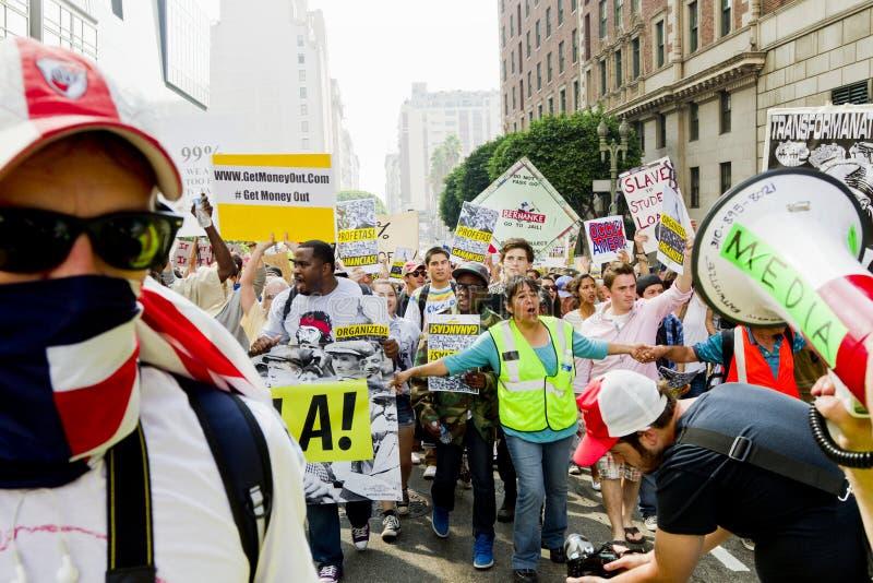 Occupi la dimostrazione ed il raduno della LA immagini stock libere da diritti