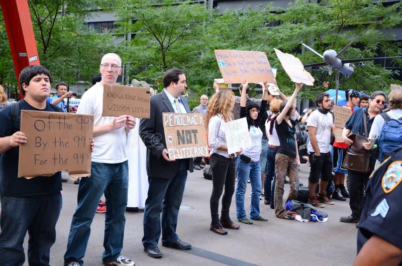 Occupi la protesta del Wall Street immagine stock libera da diritti