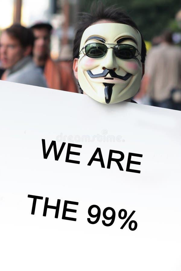 Occupi la protesta di Los Angeles immagine stock libera da diritti