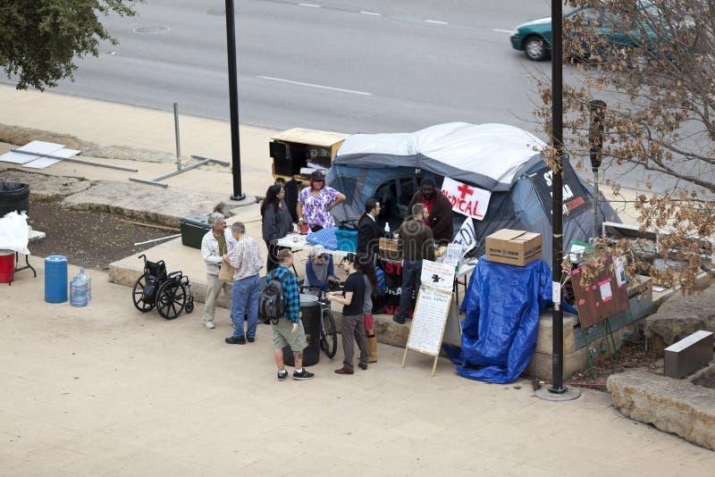 Occupi la tenda medica di Austin fotografia stock libera da diritti