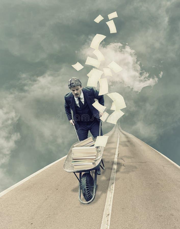 Occupied Businessman stock image