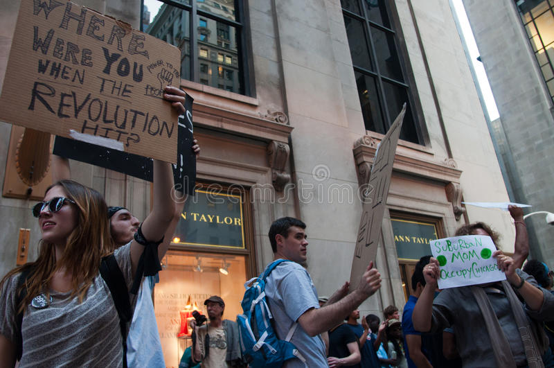 Download Occupy Chicago editorial photo. Image of protests, jessie - 25410831